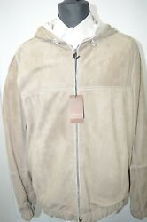 NEW 9450,00 $ STEFANO RICCI  Outwear Top Over Coat Leather   Us M Eu 50 (G82)