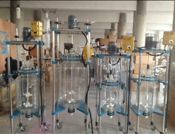50l Explosion Proof Motor Jacketed Chemical Reactor Glass Reaction Vessel Ss