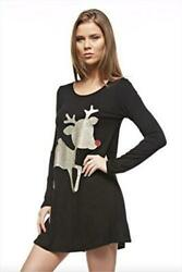 12pm By Mon Ami Womenand039s Casual Long Sleeve Knit Christmas Tunic Or Dress With Re