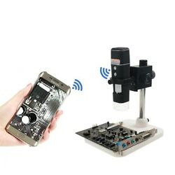 500x Wifi Digital Video Microscope Wireless Zoom Led Camera Magnifier With Stand