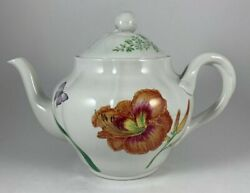 Spode English Floral Teapot For Williams-sonoma 2006 Made In England