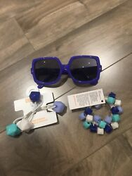 New Gymboree Sparkle Safari Sunglasses & Bracelet Pony Holders Lot Summer