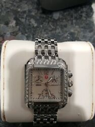 Michele Urban Watch Diamond Stainless Steel Mw02h01 33mm Womens Authentic