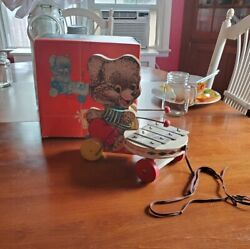 Vintage Fisher Price Toys Shaggy Zilo Pull Toy W Box 50s Or 60s Beauty
