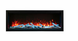 Amantii Symmetry Sym-60-xt Clean Face 60andprime Extra Tall Built-in Electric Fireplace