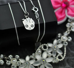 Baby Groot Necklace charm Sterling Silver 925 jewelry Guardians of the Galaxy II