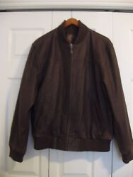Disney Leather Bomber Jacket Pirates of the Caribbean At Worlds End Men#x27;s Size L $70.00