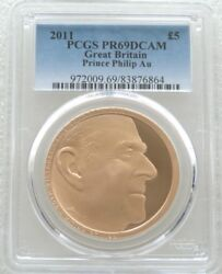 2011 Royal Mint Prince Philip £5 Five Pound Gold Proof Coin PCGS PR69 DCAM