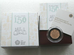 2016 Royal Mint Beatrix Potter 50p Fifty Pence Gold Proof Coin Box Coa
