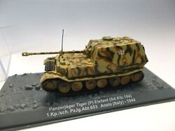 Eaglemoss 1/72 Scale Die-cast Panzerjager Tiger (P)  Elefant , German WW-II Tank