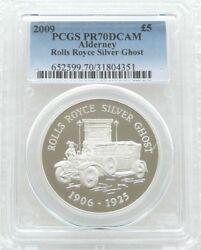 2009 Rolls Royce Silver Ghost £5 Five Pound Silver Proof Coin Pcgs Pr70 Dcam
