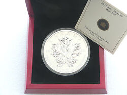 2013 Canada Maple Leaf 25th Anniversary 50 Fifty Dollar Silver 5oz Coin Box Coa