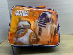 Star Wars Disney Thermos Zip Close Soft Insulated Lunch Box Kids Lunch Box $16.99