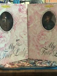 Two My Fair Lady 1996/ken And Barbie Doll Set Henry Higgins And Eliza Doolittle