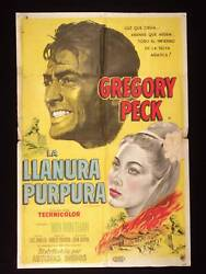The Purple Plain 1954 Gregory Peck Win Than Argentine 1sh Movie Poster