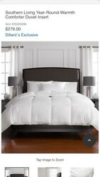 279 Southern Living Year-round-warmth Down Comforter Duvet Insert King