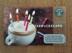 Test Card Only Available In Indianapolis Starbucks Birthday 2009 Very Rare