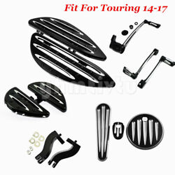Floorboards Brake Arm Shift Lever Fule Tank Cover Mounts Fit For Touring 14-17