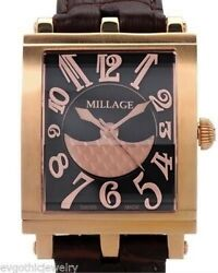 Millage The Dijon Collection Ml0073-a Calf Leather Color Rgb Men's Swiss Watch