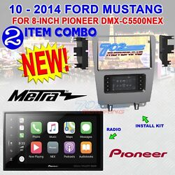 Dmh-c5500nex 8 Double Din Car Stereo Radio And 2010-2014 Ford Mustang Bezel New
