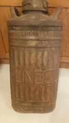 Vintage Ellisco Sunoco Embossed 10 Gallon Oil Gas Can Container