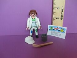 Playmobil Series 9 House Painter W/ Pail And Brush New Figure + Orig Pkg Pm 5598