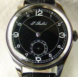 36mm Wwii Period Rare Paul Buhre Menand039s Wristwatch Very Good Condition