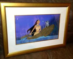 Disney Cel Pocahontas Just Around The Riverbend Rare Art And Laminated Promo Cell
