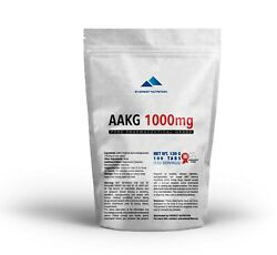 Aakg 1000mg Tablets, Great Muscle Pump, Fast Regeneration, Increased Libido