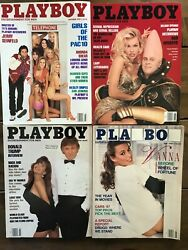 Playboy Magazine Lot Of 4 Rare Issues