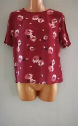 Ex Marks And Spencer Brown Floral Work Wear Blouse Size 10-22 Available