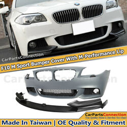 M Sport Style Front Bumper Cover For BMW 11-13 5 Series F10 M-Performance Lip