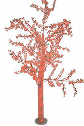 White Tree With Red Led Lights - Size 70l X 65w X 120h.