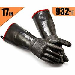 Griller Bbq Waterproof Oil/heat Resistant Insulated Cooking Gloves For Neoprene