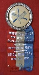 1899 Annual Convention N.y.state Andlsquoretail Butchers Mutual Protective Assandrsquonandrsquo Medal