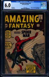 Amazing Fantasy #15 CGC FN 6.0 with offwhitewhite pages