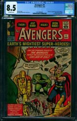 Avengers #1 CGC VF+ 8.5 with offwhitewhite pages