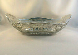 Beautiful Dutch Sterling Large Pierced Center Bowl-12 1/2 X 9 1/4