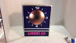 Gordons Gin Lighted Clock From The 50s