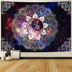 US Tapestry Mandala Wall Hanging Hippie Floral for Room Psychedlic Throw Decor