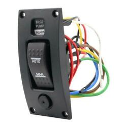 New 3-way Bilge Pump Switch Panel Automatic-off-manual 12v 24v With Alarm