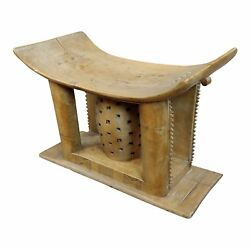 19th Century African Ashanti Hand Carved Wooden Stool