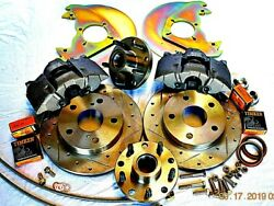 1964.5 1965 1966 Ford Mustang Disc Brakes To Fit 14 Wheels Cross Drill Rotors