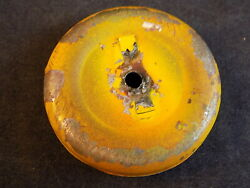 Vintage Gong Bell Mfg Pull Toy Replacement Part Yellow Metal Tin Wheel 1 Wheel