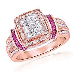 1 Cttw. Cubic Zirconia And Lead Glass-filled Ruby Ring