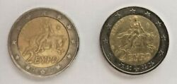 2002 Greece 2 Euro Coin - Europa Abducted By Zeus - Rare And With Small Errors