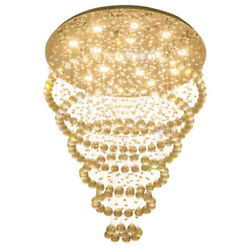 Comtemporary LED Lamp Pendant Fixtures Banquet Hall Chandelier Crystal Lamp Room