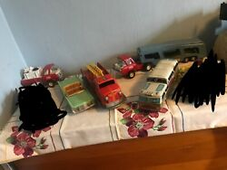 Antique Toy Car And Trucks