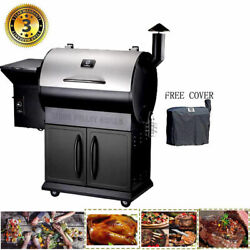 8-in-1 Cooking Pellet Grill Wood Bbq Grill Smoker Auto Temperature Control