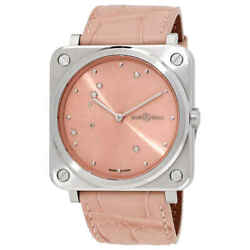 Bell And Ross Pink Diamond Eagle Quartz Pink Dial Ladies Watch Brs-ep-st/scr